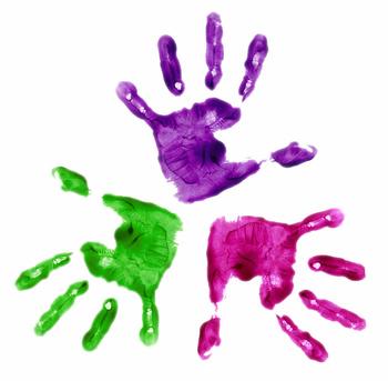 Les activit s cr atives - Peinture main enfant ...